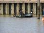Gezonken baggerboot